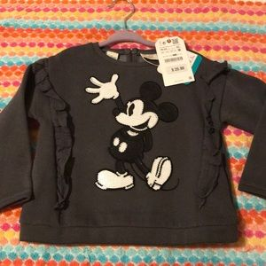 Grey Mickey sequin sweater